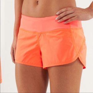 Lululemon Speed Up Shorts. RARE color SUNE!